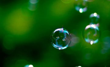 Floating Bubbles Wallpaper