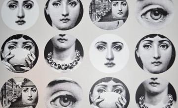 Fornasetti Faces Wallpaper