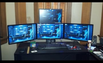 Four Monitor Wallpaper