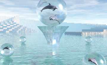 Free 3D Dolphin Wallpaper