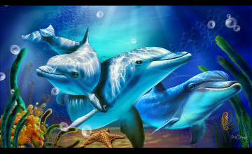 Free Animated Dolphin Wallpaper Desktop