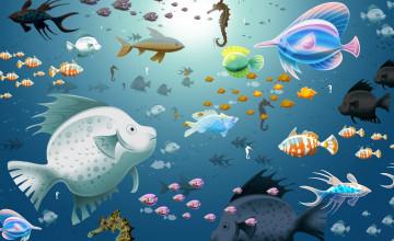 Free Animated Fish Desktop Wallpaper