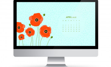 Free April 2016 Calendar Wallpaper