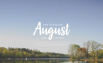 Free August 2015 Calendar Wallpaper
