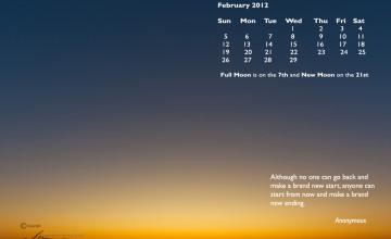 Free Calendar Wallpaper