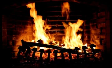 Free Christmas Fireplace Wallpaper