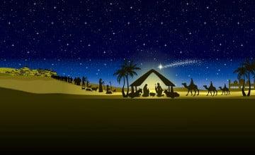 Free Christmas Nativity Wallpaper