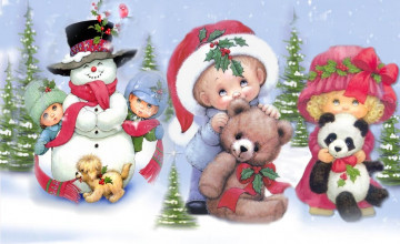 Free Christmas Wallpaper for Kids