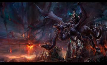 Free Dragon Art Wallpaper