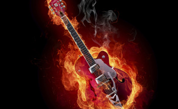 Free Guitar Screensavers and Wallpaper