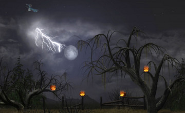 Free Halloween 3D Desktop Wallpaper