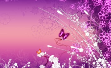 Free Pink Butterfly Wallpaper