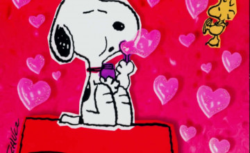 Free Snoopy Valentine\'s Day Wallpaper