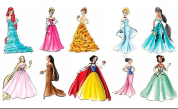 Free Wallpaper Modern Disney Princess
