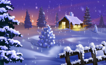 Free Winter Christmas Wallpaper