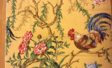 French Country Rooster Wallpaper
