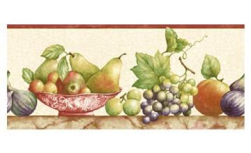 Fruit Border Wallpaper for Kitchen