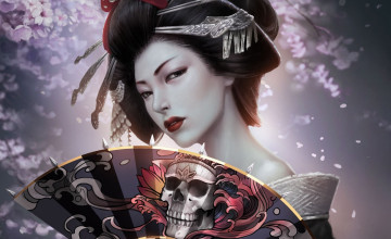 Geisha Girl Wallpaper Wall
