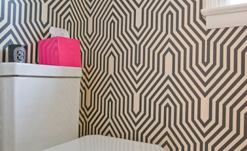 Geometric Wallpaper for Bathrooms