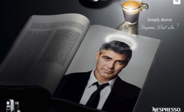 George Clooney Advertisements Wallpaper