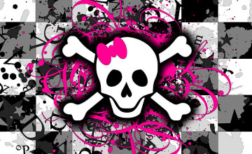 Girly Skull Wallpaper