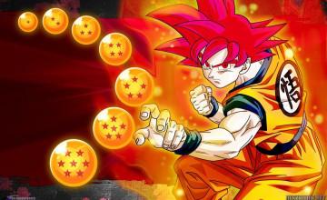 Goku SSJ God Wallpaper
