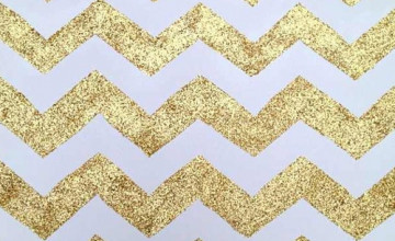 Gold and White Chevron Wallpaper