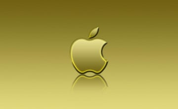 Gold Apple Wallpaper