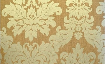 Gold Brocade Wallpaper