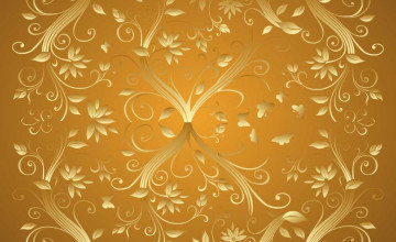 Gold Flower Wallpaper