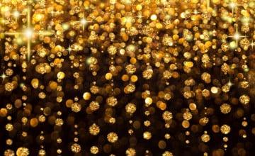 Gold Glitter Desktop Wallpaper