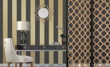 Gold Stripe Removable Wallpaper