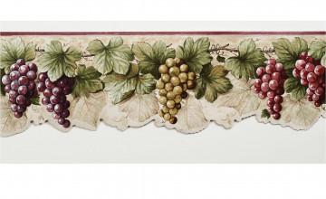Grape Border Wallpaper
