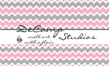 Gray Chevron Wallpaper Border