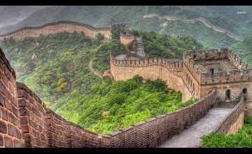 Great Wall of China Drawing Wallpaper