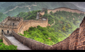 Great Wall of China Dual Screen Wallpaper
