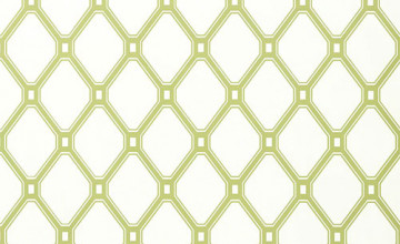 Green and White Lattice Wallpaper