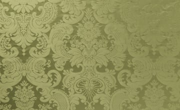 Green Damask Wallpaper