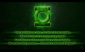 Green Lantern Oath Wallpaper