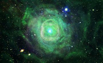 Green Nebula Wallpaper