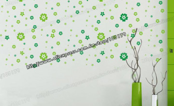 Green Removable Wallpaper