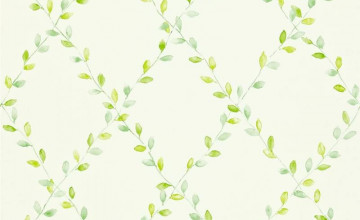 Green Trellis Wallpaper