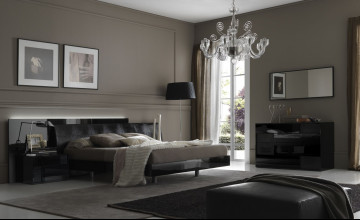 Grey Contemporary Wallpaper for Bedrooms