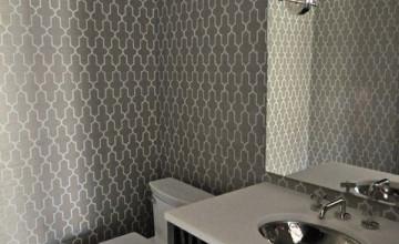 Grey Wallpaper for Bathroom