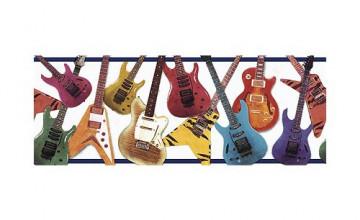 Guitar Wallpaper Border Home Depot