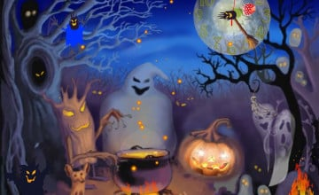 Halloween Animated with Sound Wallpapers