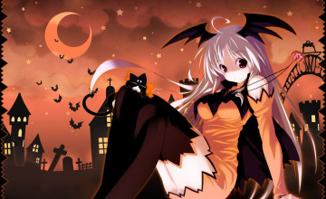 Halloween Anime Girls Wallpapers