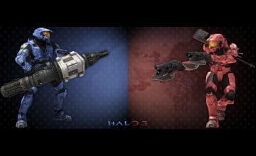 Halo Dual Screen Wallpaper
