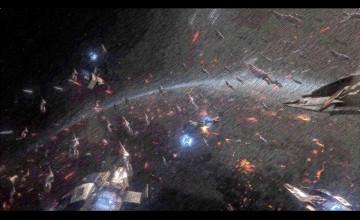 Halo Space Battle Wallpaper