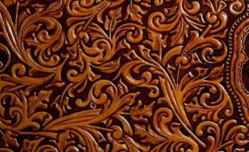 Hand Tooled Leather Wallpaper